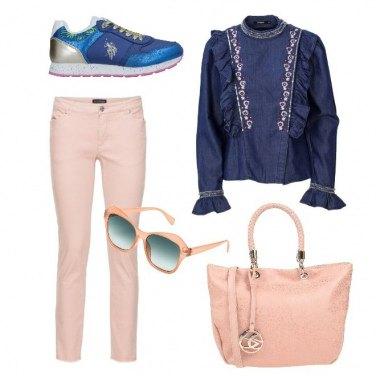Outfit Il rosa e il blu