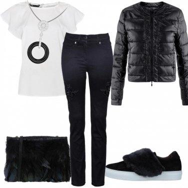Outfit Piccola spesa in bianco e nero
