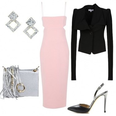 Outfit Vestito longuette rosa