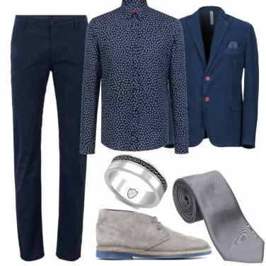 Outfit Blue&Grey