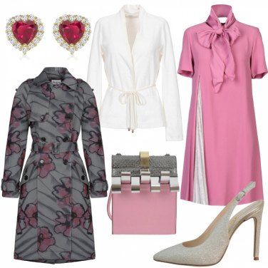 Outfit Trench a fiori
