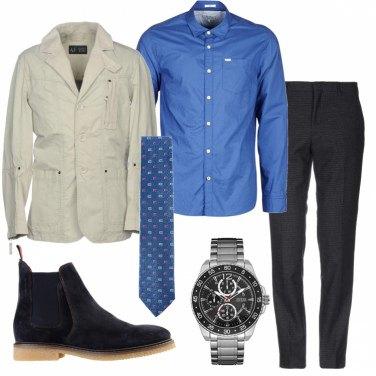 Outfit La camicia dal colore intenso