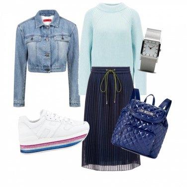 Outfit Blu e celeste
