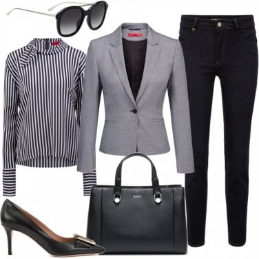 Outfit Business woman in jeans