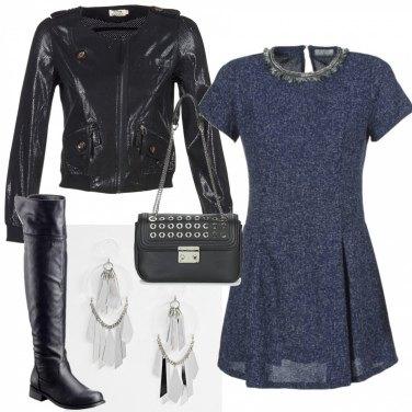Outfit Maxi orecchini e mini abito