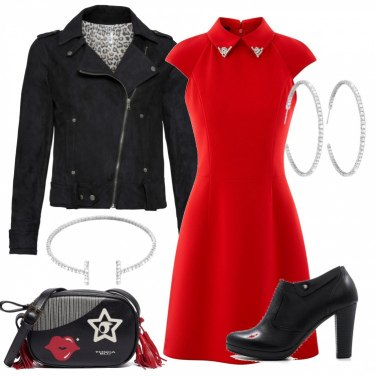 Outfit Rosso rock\'n\'roll
