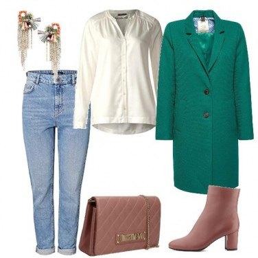 Outfit Il verde e rosa