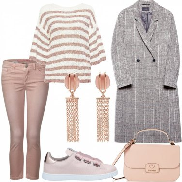 Outfit Jeans rosa chiaro
