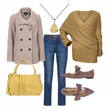 Outfit Il maglione avvolgente