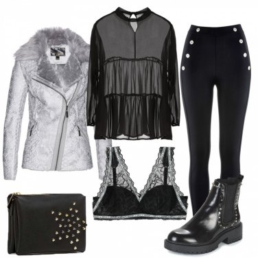 Outfit Trendy dall\'animo rock