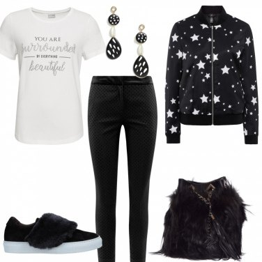 Outfit Stelline e pelliccia