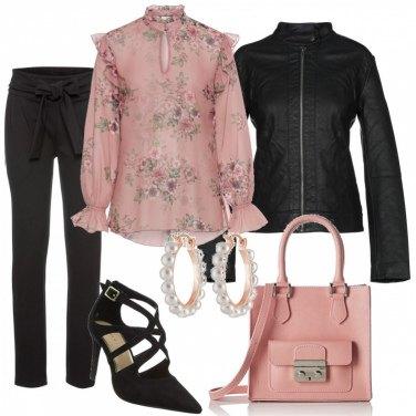 Outfit Eleganza rosa antico