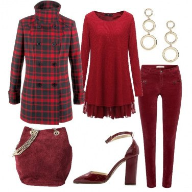 Outfit Nei toni del rosso