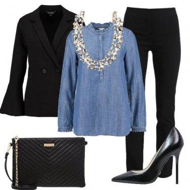 Outfit Camicia di jeans in versione elegante