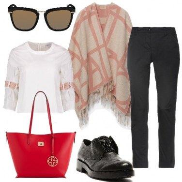Outfit Poncho di giorno