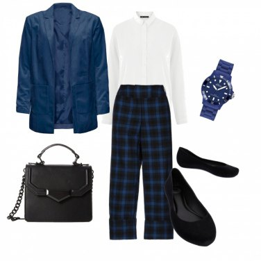 Outfit Look a quadri low cost