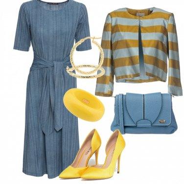 Outfit In giallo e azzurro