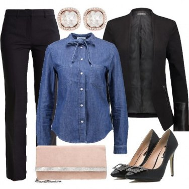 Outfit Camicia in denim
