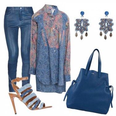 Outfit Maxi blusa passepartout
