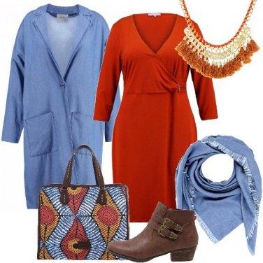 Outfit Arancio astratto