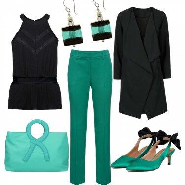 Outfit Verde smeraldo e nero (low cost)