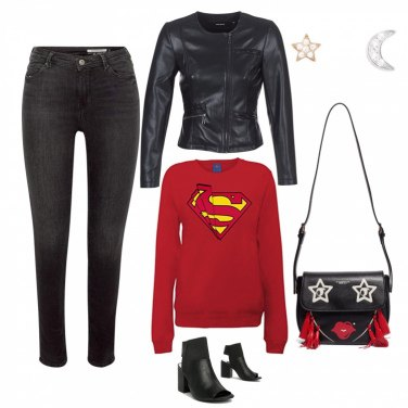 Outfit Black and red passion