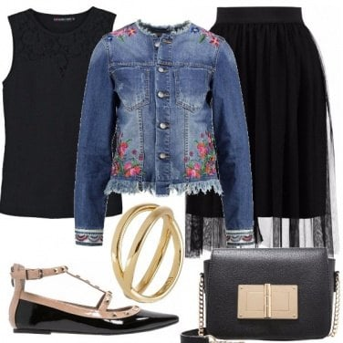 Outfit Denim e black