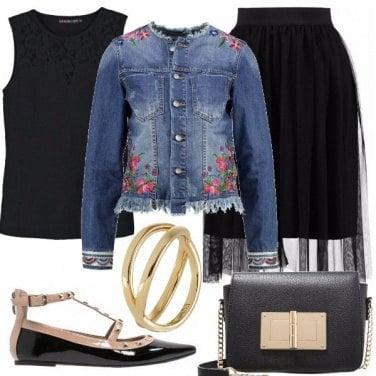 Outfit Denim e black