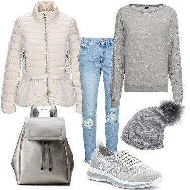 Outfit Piumino bianco 1 : Ciack!
