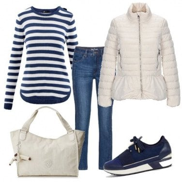 Outfit Piumino bianco 3: Ciack!