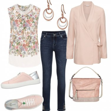 Outfit Basic rosa pesca