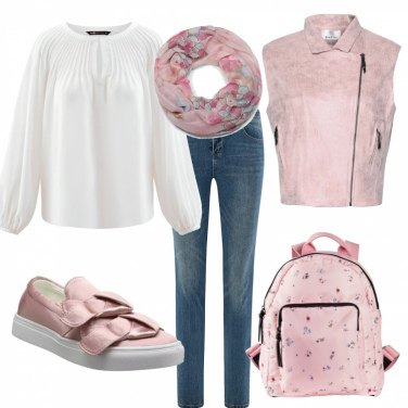Outfit Dolcezza rosa low cost