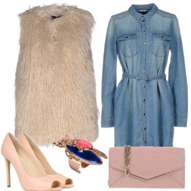 Outfit Rosa e denim
