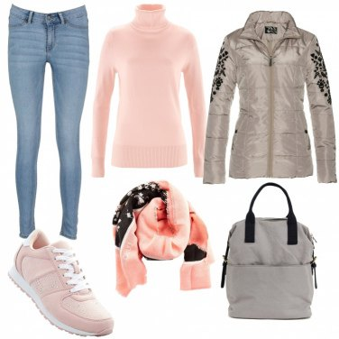 Outfit Casual pink