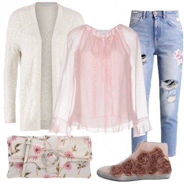 Outfit Una romantica in jeans