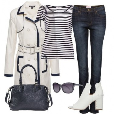 Outfit Total white and blue