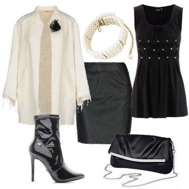 Outfit Bianco e nero per la sera