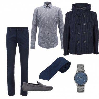 Outfit Grigio & blu
