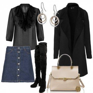 Outfit Mini denim e cuissard