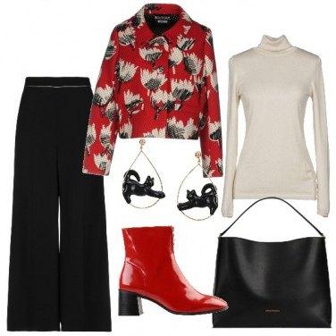 Outfit Lo stivaletto rosso di vernice