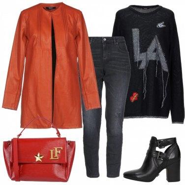 Outfit Arancio e Rosso si può fare