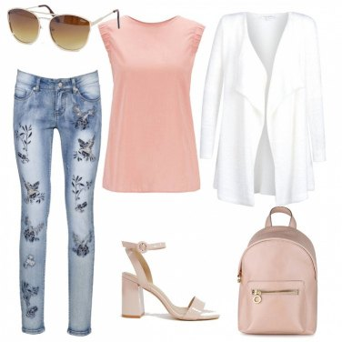 Outfit I jeans con le rondini