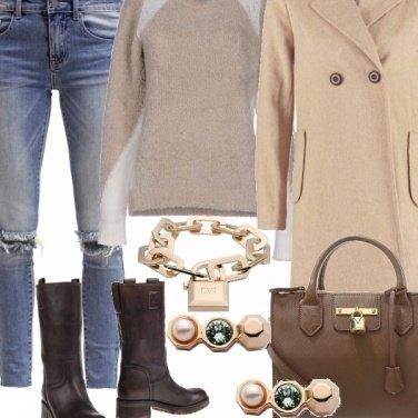 Outfit Amo il beige