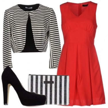 Outfit Le righe protagoniste