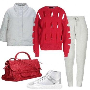 Outfit Fori sulla maglia