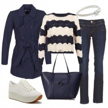 Outfit Panna e blu