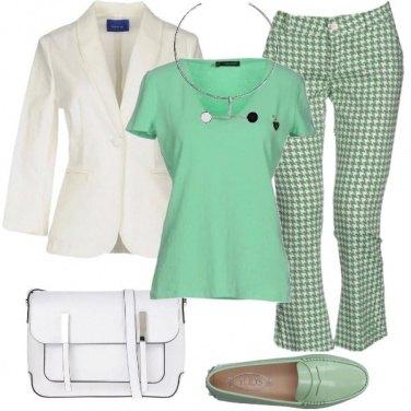 Outfit Pied de poule per tutti i giorni