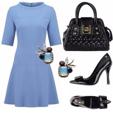 Outfit Vintage in light blue.