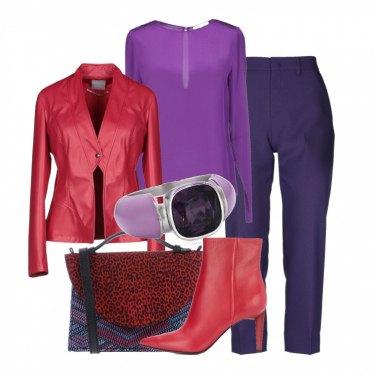 Outfit Viola e rosso