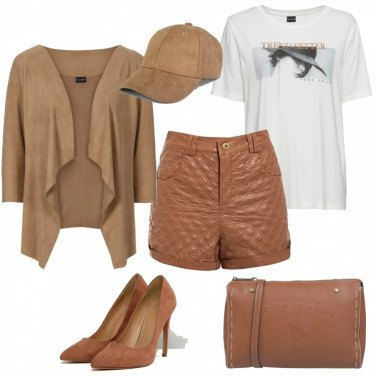 Outfit Trendy in short in ecopelle